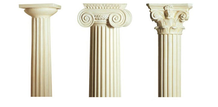 Doric and Ionic are two types of Greek architecture. Doric is the simplest, oldest, and the most
