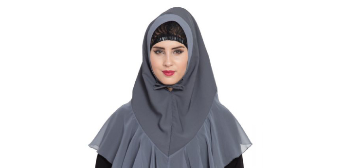 The hijab is known to be a headscarf that is usually placed on the head. It will cover the neck,