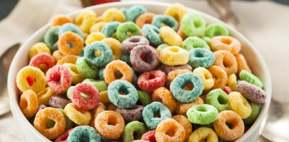 One might think that Fruit Loops would be vegan but the fact is that they are not. Fruit Loops
