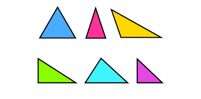There are different ways of calculating the area of a triangle. This is because there are different