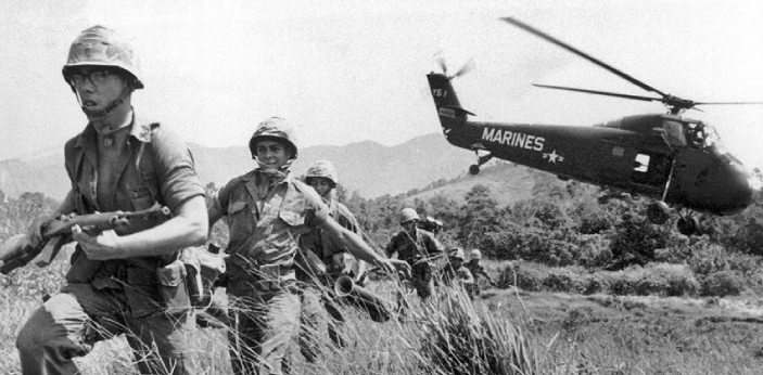 The Vietnam War delineates the fight between communism and capitalism, and the battle of the Cold