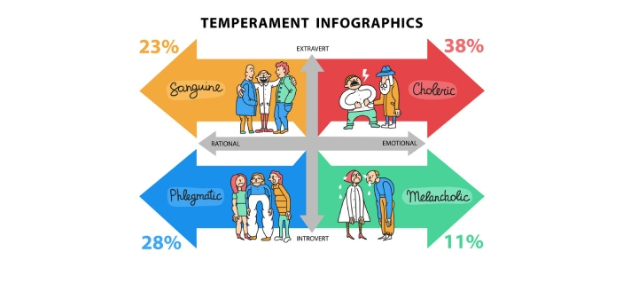 Temperament and personality are related to each other, and they are developed at one's early