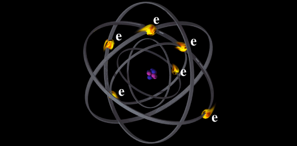 Since the electron is negative in charge and the proton is positive incharge, they are attracted to
