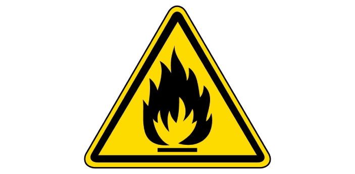 Flammable and highly flammable are two English words which are used to explain something that is