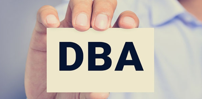 DBA is an acronym for (Doing business As) and LLC, an acronym for (Limited Liability Company). DBA