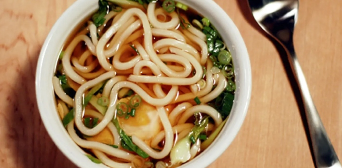 Udon and Soba are two special types of noodles in Japan. These noodles are very delicious when