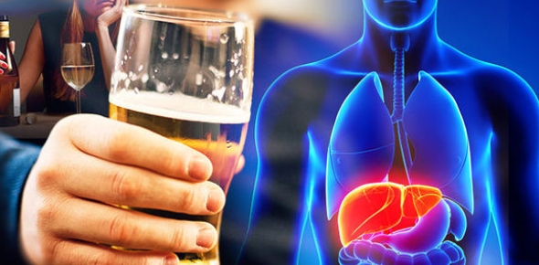 Why does the liver get affected by alcohol?