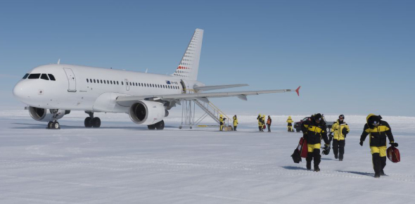 Yes, Antarctica does have an aiport but it cannot operate all year round. Teniente R. Marsh Martin