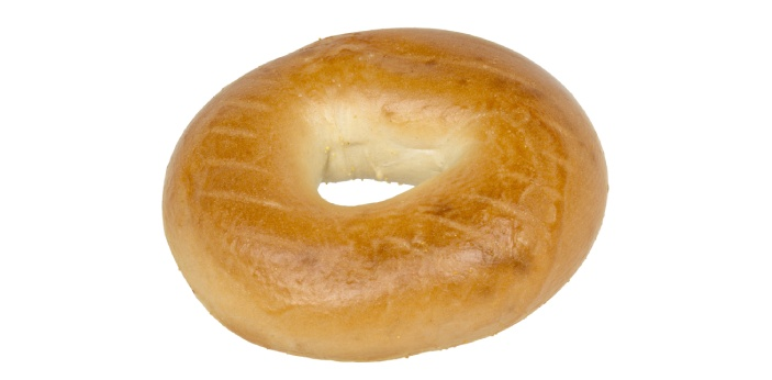 The bagel belongs to the grain group of food. Bagel is a type of bread that is popular among the