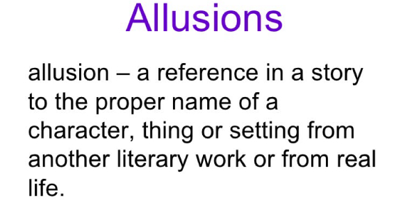 Which Of The Following Contains An Example Of Allusion Proprofs