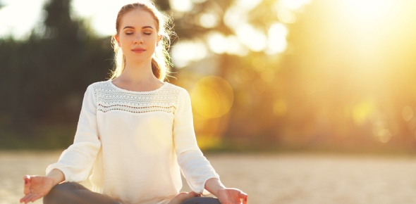 What does meditating during yoga feel like?