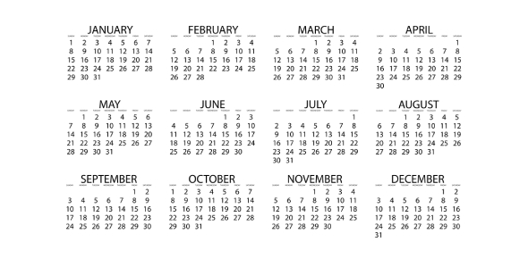 What is the importance of calendars in our lives, today?