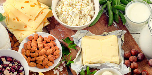 The following are foods high in calcium, which is very important for the health and strength of