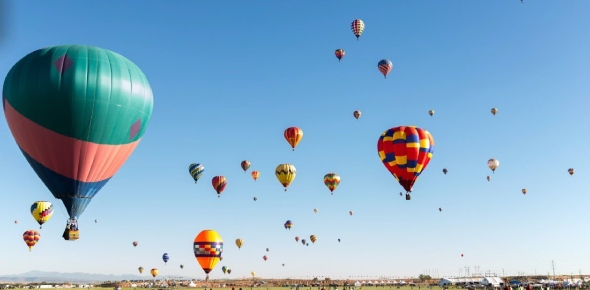 Hot air balloons can be used for short distance travel only. Since hot air balloons travel at the