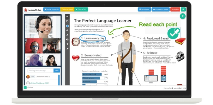 Virtual Classroom is an online learning platform that provides the learners with a live interaction