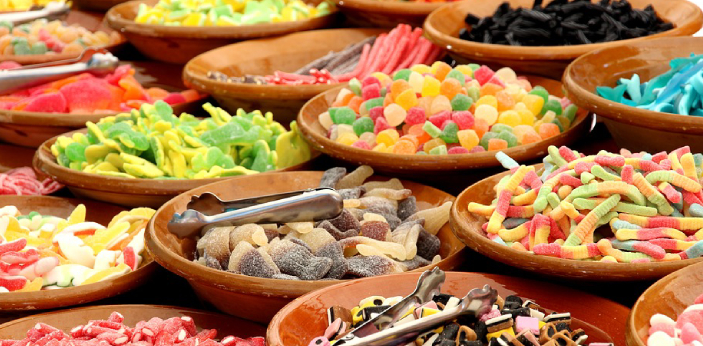 Confectionery refers to sugar. So, confectionery products are baked products that are made