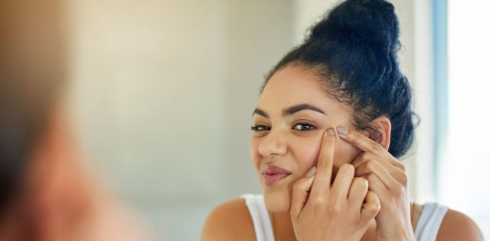 Acne and eczema are both conditions that affect the skin. Acne occurs from excess oil. It can also