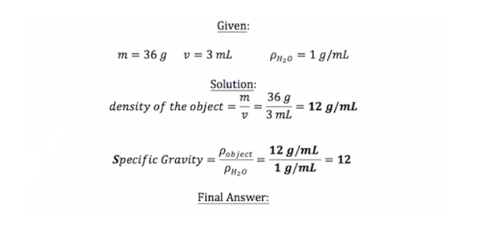 Both specific gravity and density are mostly common in science subjects like physics and even