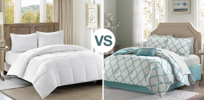 Duvet cover and comforter are not the same. The duvet cover is a thick padded quilt (bed covering)