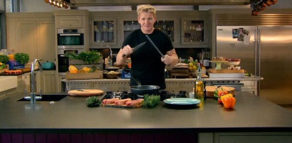 Why did the waiter yell at Gordan Ramsey in the kitchen?