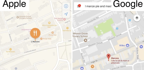 What makes Google Maps superior to Apple Maps?