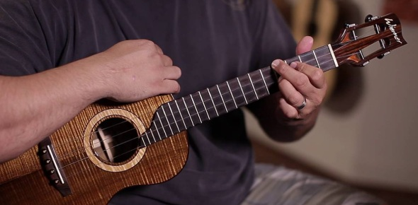 Is E major the hardest uke chord to play?