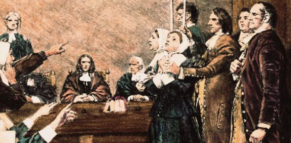 The Salem Witch Trials occurred because it was a classic example of scapegoating and fear combined