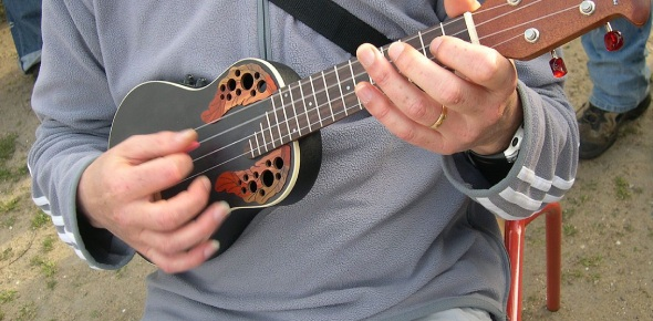 Which famous songs are exclusively played on the ukulele?