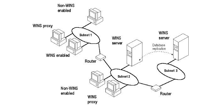 WINS is the acronym for Windows Internet Name Service, while DNS is the acronym for Domain name