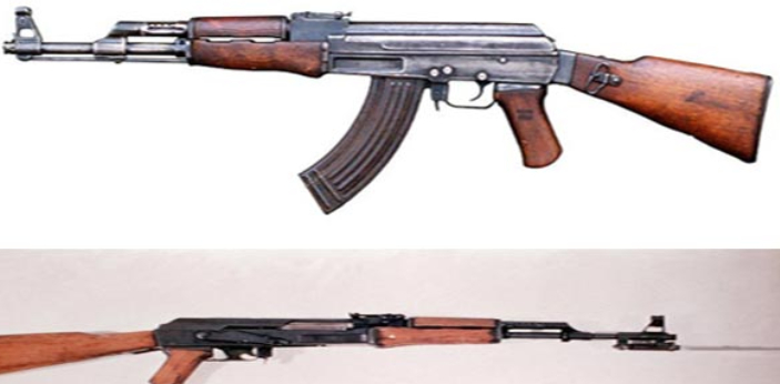 The AK-47 assault rifle, which was designed by the Soviet Union, was earlier designed before the