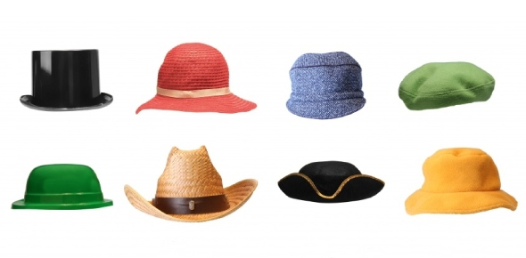 How many types of hats are there?