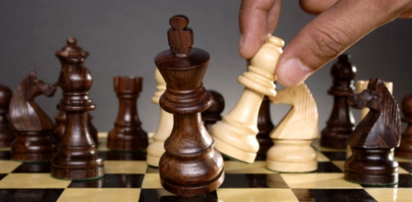 Chess is played by first setting up your chess pieces. There are two rows of pieces for each player