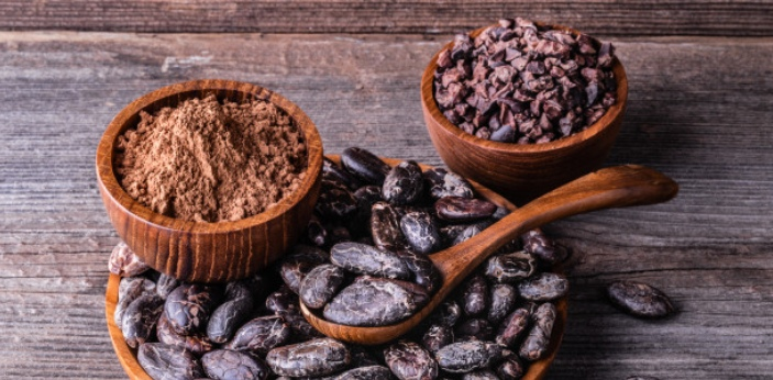 Cocoa is powdered ground roasted cacao beans from which the actual cocoa butter is removed during