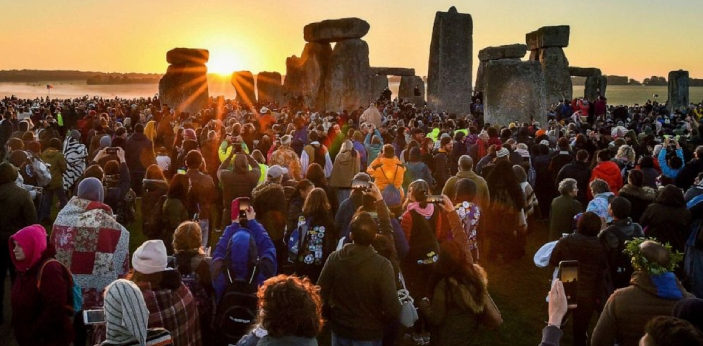 The summer solstice takes place when the northern side of the earth is tilted towards the sun. This