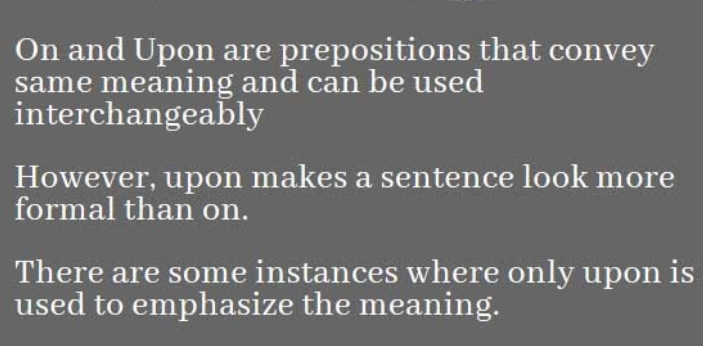 This might be new to you, but the words upon and Apon are commonly interchangeably used by many