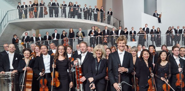 Which was the largest orchestral group that ever gathered?