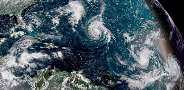 How many hurricanes have HIT the US in 2017?
