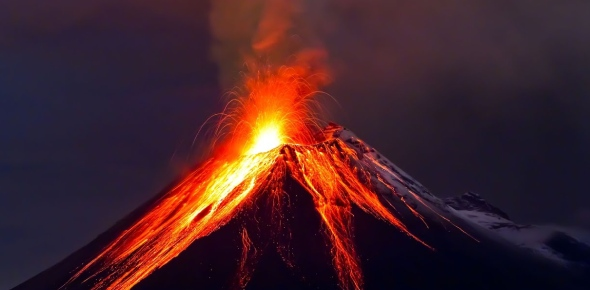 Why does volcanic activity occur?