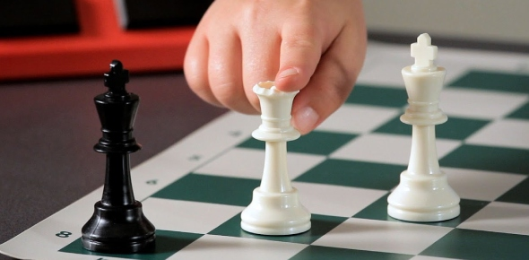 In chess, the key is to move your chess pieces so that they block the king from being able to move