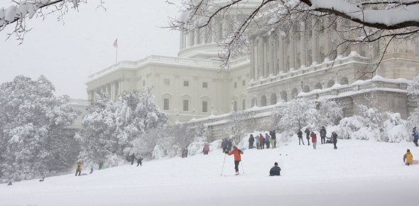 For there to be snow, there has to be precipitation in a cold climate. Lots of the areas near and