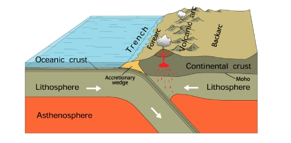 What are oceanic trenches?