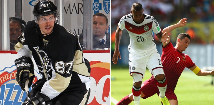 Soccer and hockey are both sports that have several similarities that some people even take one for