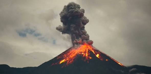 Which country has the most active volcanoes?