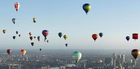 What makes a hot air balloon fly?