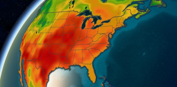 Which US state has the worst heat?