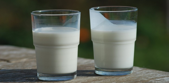 Buttermilk is fermented milk with a slightly sour taste, whereas milk is the creamy white beverage,