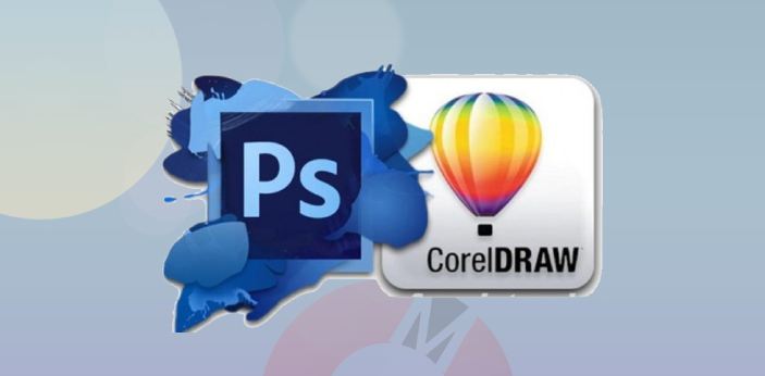 CorelDraw and Photoshop are two examples of graphic design software. They are used by web designers