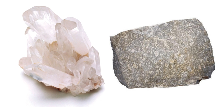 Quartz and Quartzite are two examples of minerals, and they are very much available in abundance on
