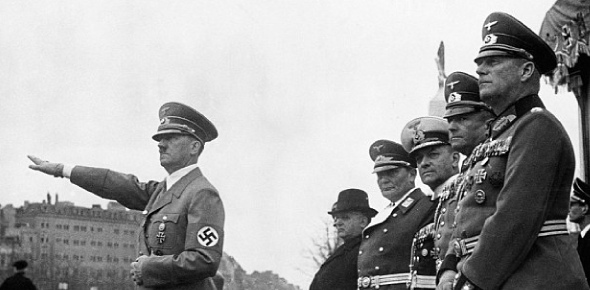 Why did Hitler did not surrender even when Germany was being invaded from both fronts?