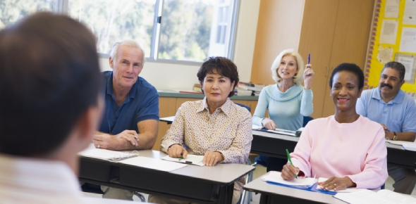 Which institutes in USA offer better courses in adult learning?
